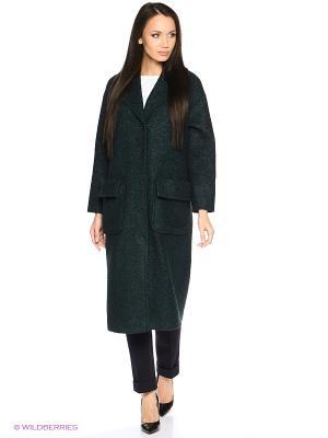Пальто-oversize RUXARA. Цвет: серо-зеленый