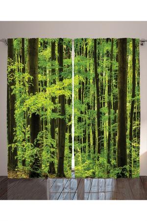 Комплект штор, 290x265 см MAGIC LADY. Цвет: зеленый