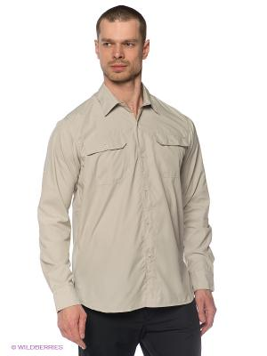Рубашка Trespass. Цвет: бежевый