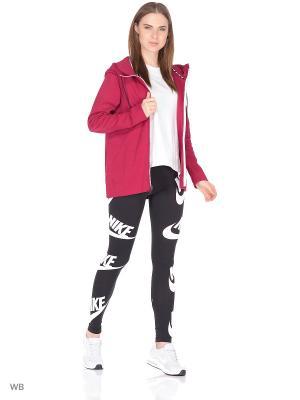 Толстовка W NSW AV15 HOODIE FZ Nike. Цвет: красный