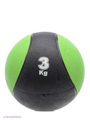 Медицинбол, 3 кг Start Up. Цвет: зеленый, черный