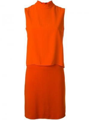 Многослойное платье Akris. Цвет: жёлтый и оранжевый