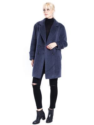 Пальто SUCCESS. Цвет: синий