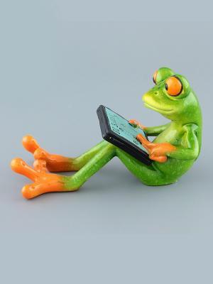Фигурка  Лягушка с планшетом Elan Gallery. Цвет: зеленый, оранжевый