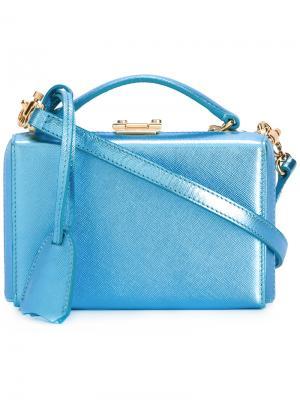 Миниатюрная сумка-коробочка Grace Mark Cross. Цвет: синий