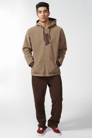 Спортивный костюм Relax Mode. Цвет: коричневый
