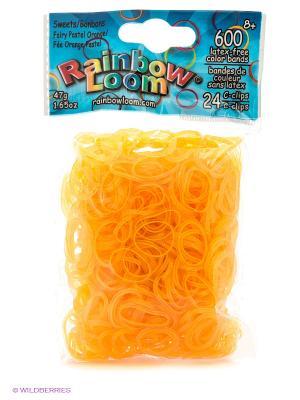 Резиночки Пастельнооранжевый коллекция Леденцы RAINBOWLOOM. Цвет: желтый