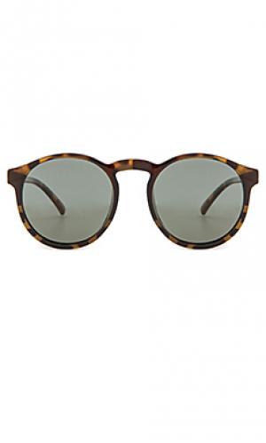 Солнцезащитные очки cubanos Le Specs. Цвет: коричневый