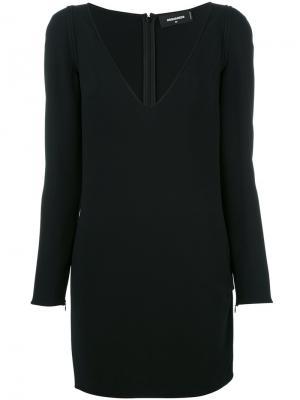 Платье мини с длинными рукавами Dsquared2. Цвет: чёрный