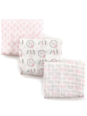 Комплект Пелёнки Hudson Baby. Цвет: розовый