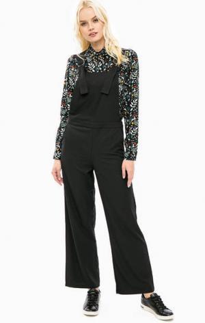 Черный комбинезон с широкими брюками Sugarhill Boutique. Цвет: черный
