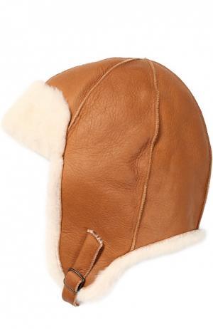 Шапка из овчины Petit Nord. Цвет: светло-коричневый