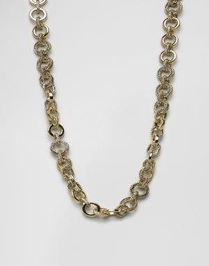 House of Harlow Золотистое ожерелье cо звеньями. Цвет: золотой
