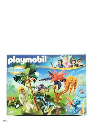 Супер4: Затерянный остров с Алиен и Хищником Playmobil. Цвет: зеленый, белый, коричневый