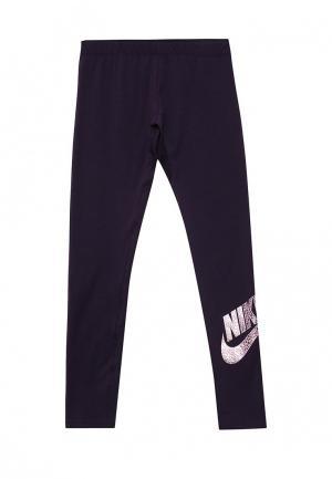 Леггинсы Nike. Цвет: фиолетовый
