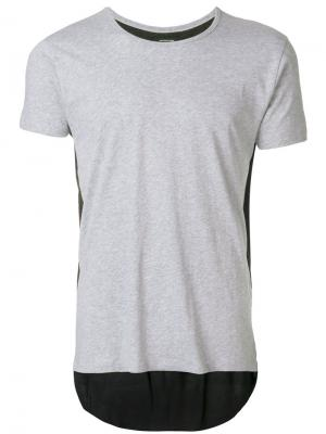 Удлиненная футболка Unconditional. Цвет: серый