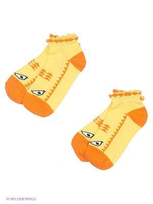 Носки, 2 пары Хох. Цвет: желтый
