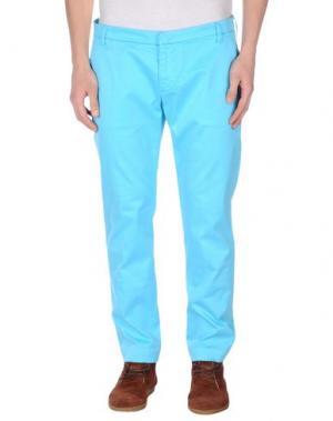 Повседневные брюки ENTRE AMIS. Цвет: бирюзовый