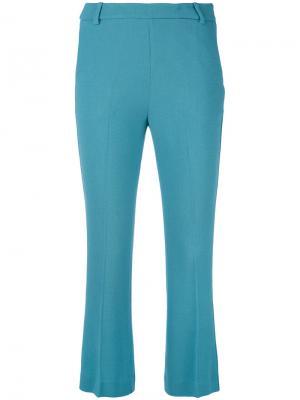 Укороченные брюки Ermanno. Цвет: синий