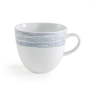 Комплект из 4 кружек фарфора, Agaxan AM.PM.. Цвет: синий/ белый
