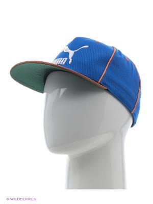 Бейсболка LS Deluxe strapback Puma. Цвет: голубой