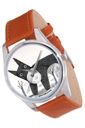 Часы Плюшевый пес MITYA VESELKOV. Цвет: коричневый