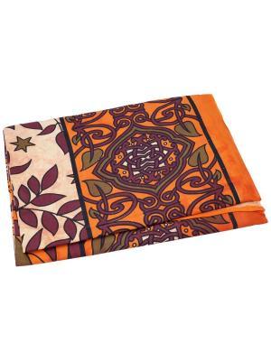 Покрывало декоративное набивное ETHNIC CHIC. Цвет: оранжевый