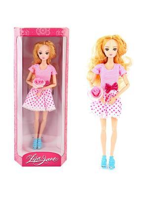 Кукла Натали, 28 см Lisa Jane. Цвет: фуксия, белый, розовый