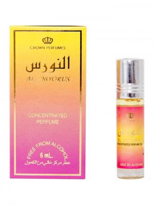 Арабские масляные духи Аль-Нурус (Al-Nourus) для женщин, 6 мл Al Rehab. Цвет: светло-коралловый, светло-желтый