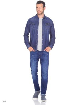 Рубашка WESTERN DENIM Wrangler. Цвет: синий