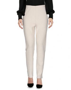 Повседневные брюки CORINNA CAON. Цвет: слоновая кость