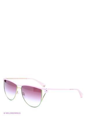 Очки солнцезащитные Emporio Armani. Цвет: розовый, зеленый