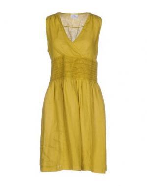 Короткое платье LA FABBRICA del LINO. Цвет: кислотно-зеленый