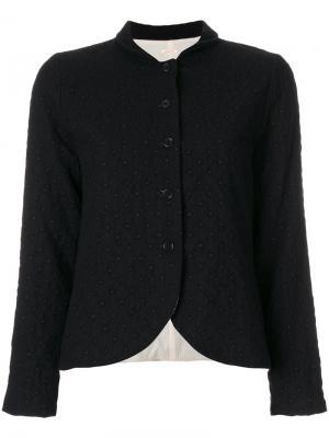 Приталенный пиджак с принтом Apuntob. Цвет: чёрный