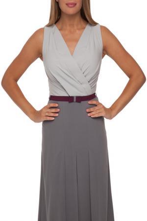 Платье без рукавов с поясом Gloss. Цвет: серый, темно-серый, бордовый