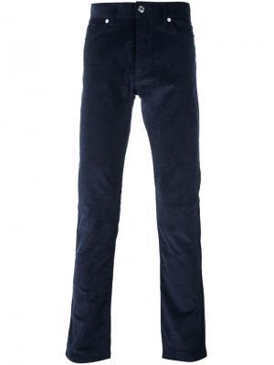 Прямые вельветовые брюки Éditions M.R. Цвет: синий