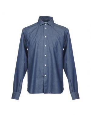 Джинсовая рубашка BRANCACCIO C.. Цвет: темно-синий