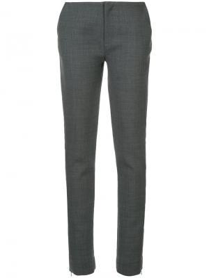Классические приталенные брюки Georgia Alice. Цвет: серый