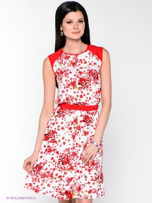 Платье Remix. Цвет: белый, красный