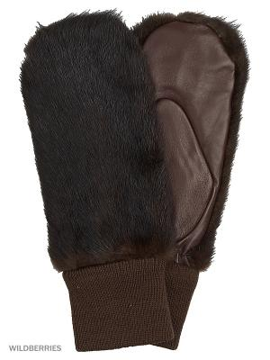 Варежки Marco Bonne`. Цвет: темно-коричневый