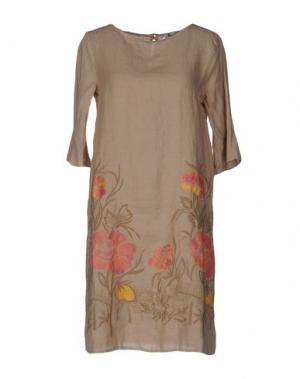 Короткое платье LA FABBRICA del LINO. Цвет: песочный