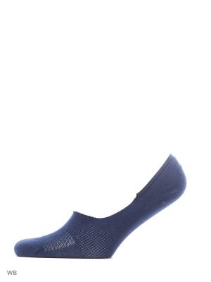 Носки 2-пары PUMA FOOTIE 2P UNISEX. Цвет: темно-синий, голубой