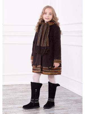 Пальто Baby Steen. Цвет: коричневый