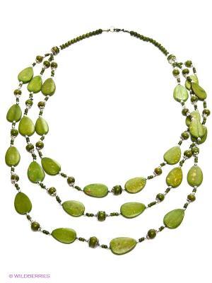 Ожерелье ГАНГ. Цвет: оливковый
