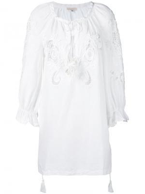 Платье Emily Anjuna. Цвет: белый