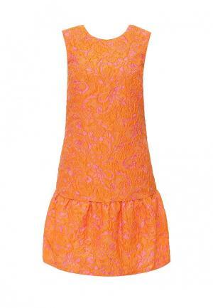 Платье Pinko. Цвет: оранжевый