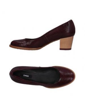 Туфли ZINDA. Цвет: красно-коричневый