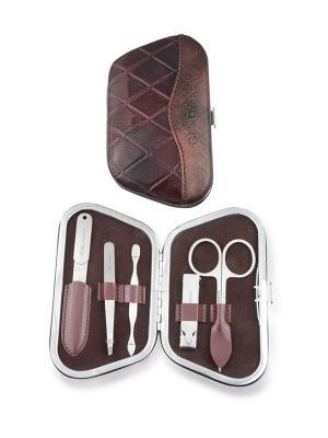 Маникюрный набор 5 предметов Ellis Cosmetic. Цвет: коричневый