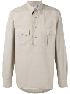 Рубашка с застежкой на пуговицы Aspesi. Цвет: телесный