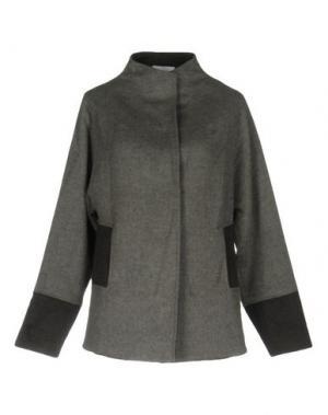 Пальто PAOLO ERRICO. Цвет: серый